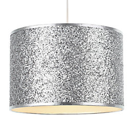 Colours Cirocha Silver Glitter Light Shade (D)28cm