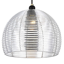Colours Beloye Silver Aluminium Light Shade (D)34cm