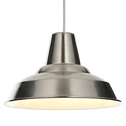Colours Tezz Silver Brushed Chrome Effect Light Shade