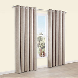Thornbury Shrewmouse Chenille Eyelet Lined Curtains (W)167cm