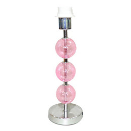 Artesia Pink Crackled Glass Effect Table Lamp Base