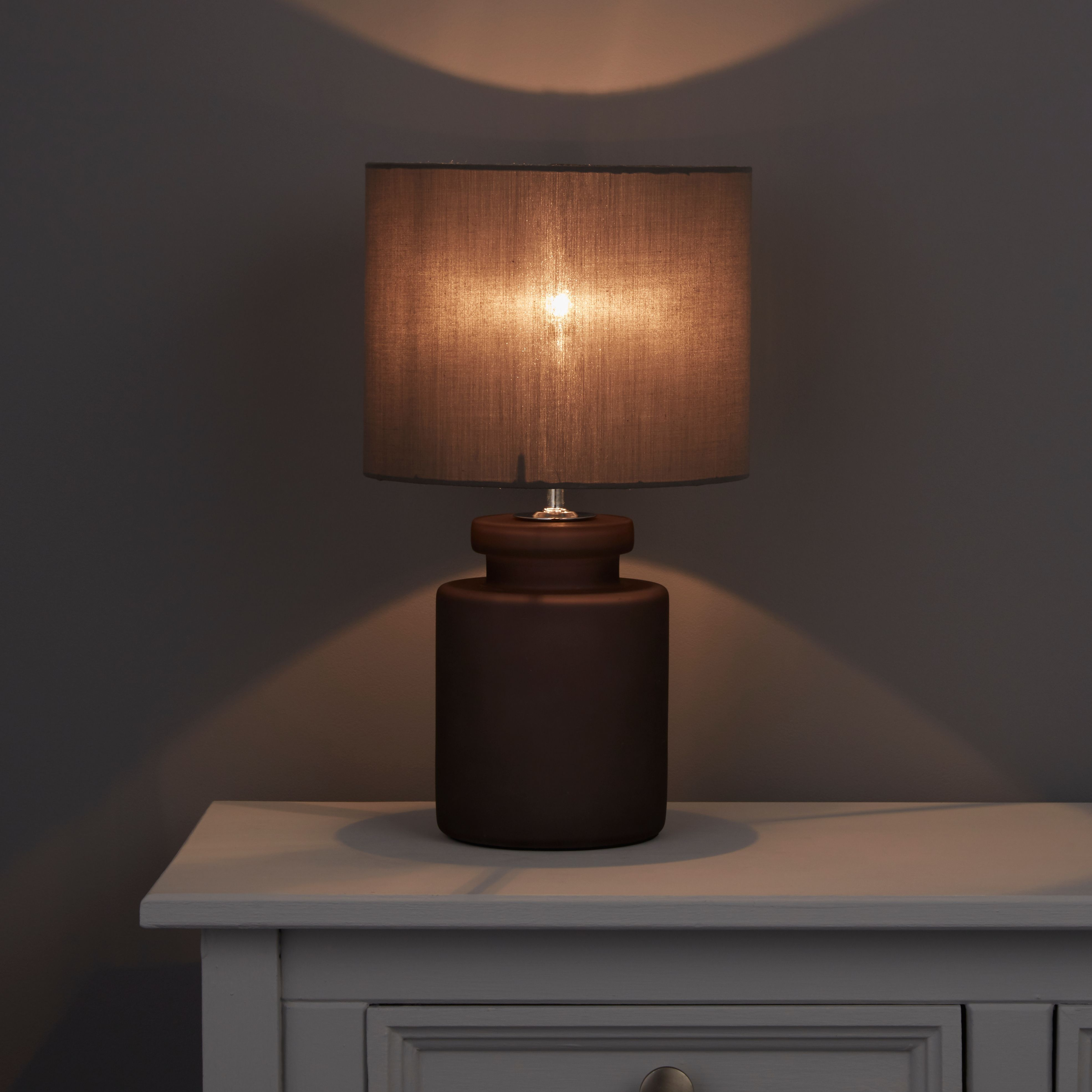 Aitkin Steel Grey Table Lamp