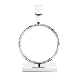 Colebrook Circle Chrome Table Lamp Base