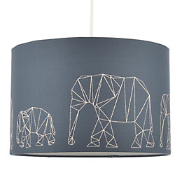 Colours Irwell Denim Blue Elephant Stitched Light Shade
