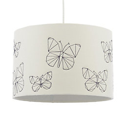 Colours Limia Cream Butterfly Stitched Light Shade (D)30cm