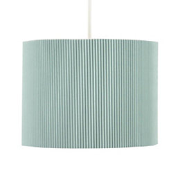 Colours Zadeh Duck Egg Micropleat Light Shade (D)20cm