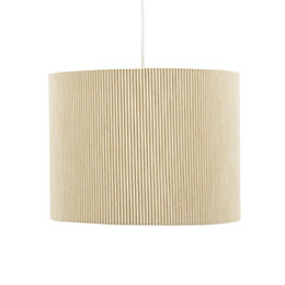 Colours Zadeh Cream Micropleat Light Shade (D)26cm
