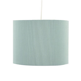 Colours Zadeh Duck Egg Micropleat Light Shade (D)26cm