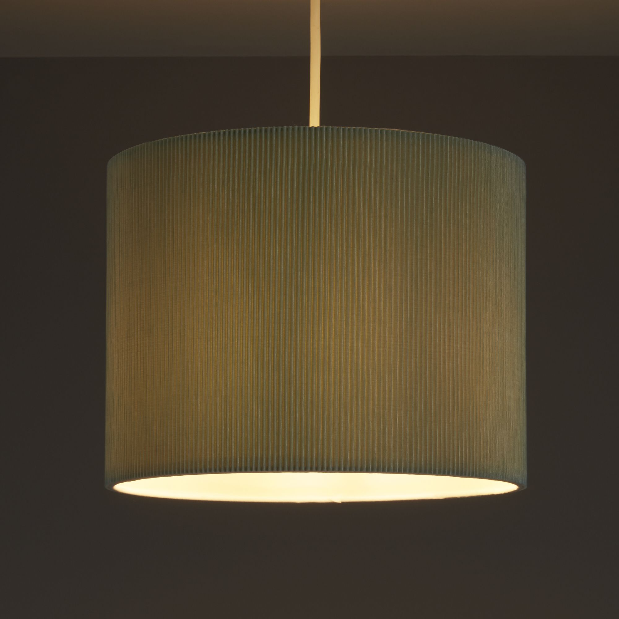 Colours Zadeh Duck Egg Micropleat Light Shade (d)260mm