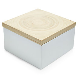 Colours White Bamboo Storage Box