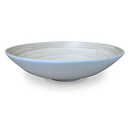 Colours White Lacquered Bamboo Dish