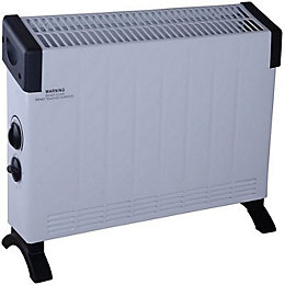 Electric 2000W White & Black Convector Heater