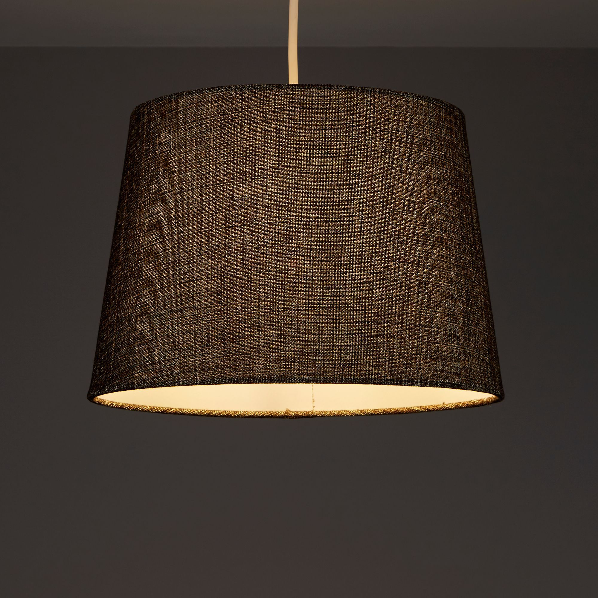 Colours Sadler Brown Metallic Lamp Shade (d)280mm