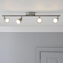 Koro Nickel Effect 4 Lamp Ceiling Spotlight