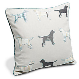 Ravenglass Labrador Cream, Grey & Blue Cushion