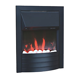 Aemilia Black LED Inset Electric Fire