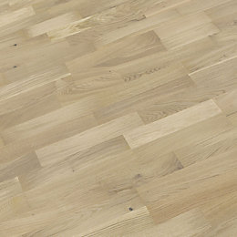 B&Q White Oak Real Wood Top Layer Flooring