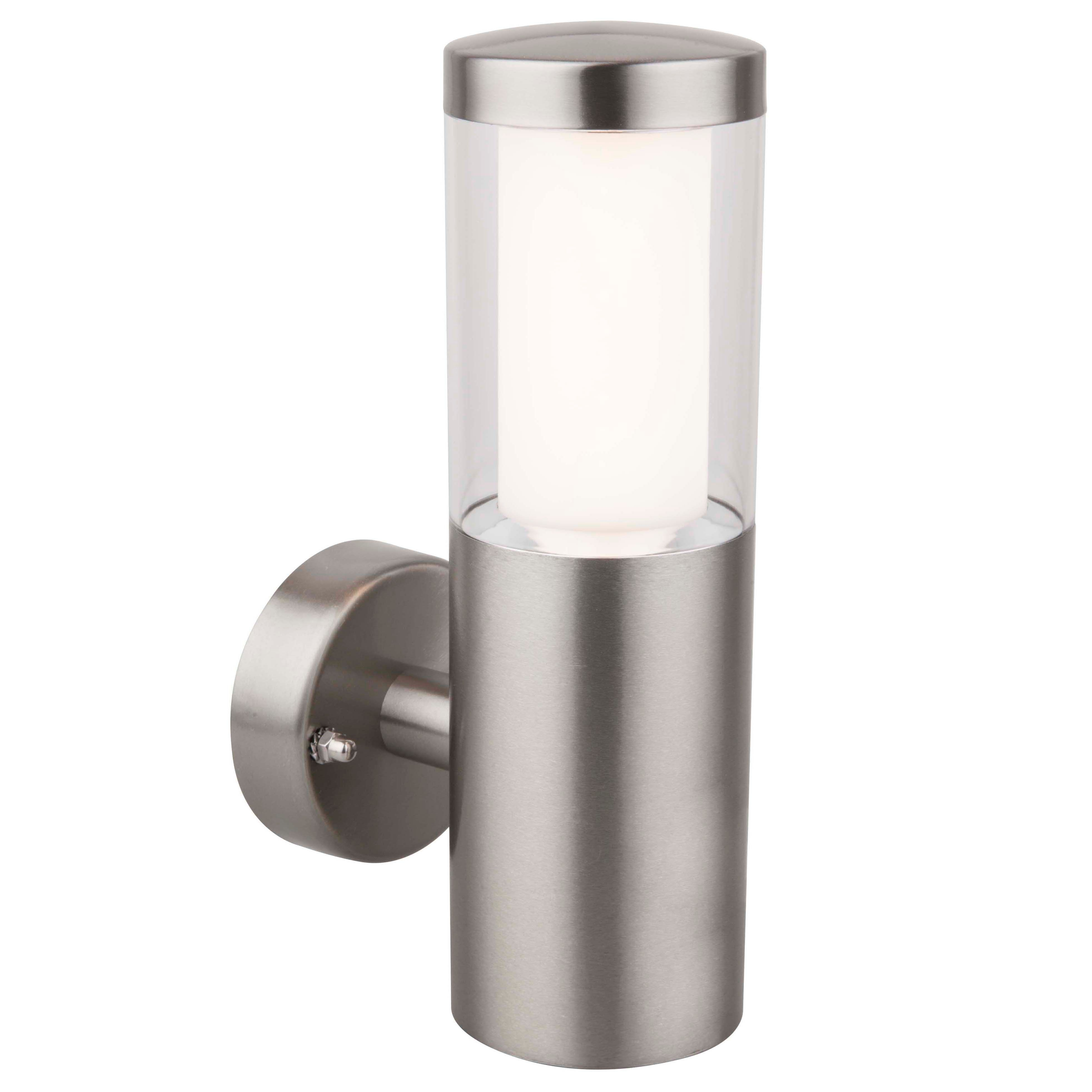 Blooma Nomos Stainless Steel Mains Powered External Wall Light