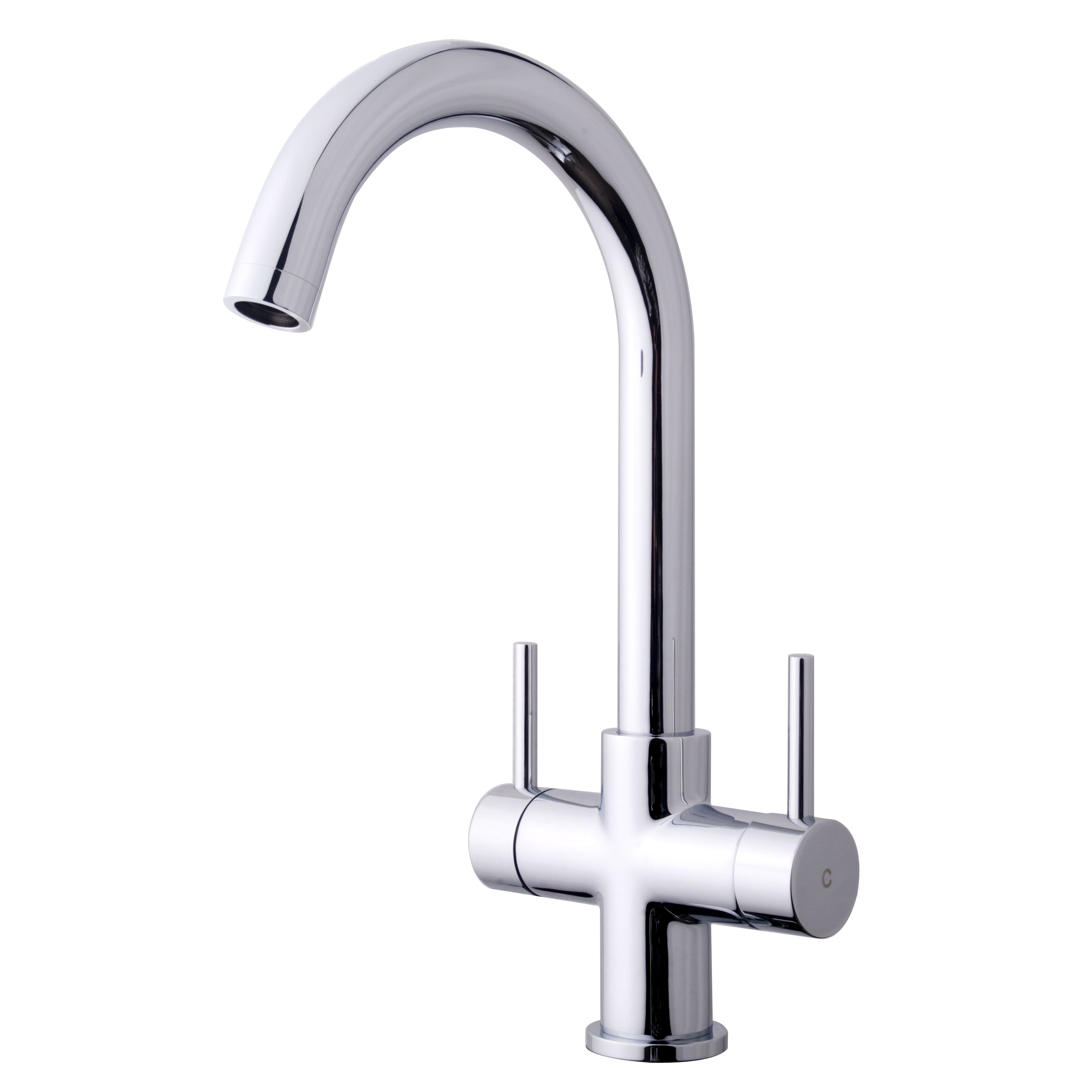 Diy supplies accessories diy at b q - Cooke Lewis Zale Chrome Effect Kitchen Monobloc Tap