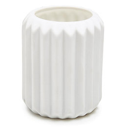 Ridged Fresh Linen Jar Candle Small