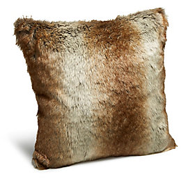 Petersberg Faux Fur Brown Cushion