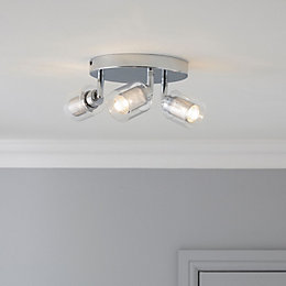 Dinara Chrome Effect 3 Lamp Ceiling Spotlight