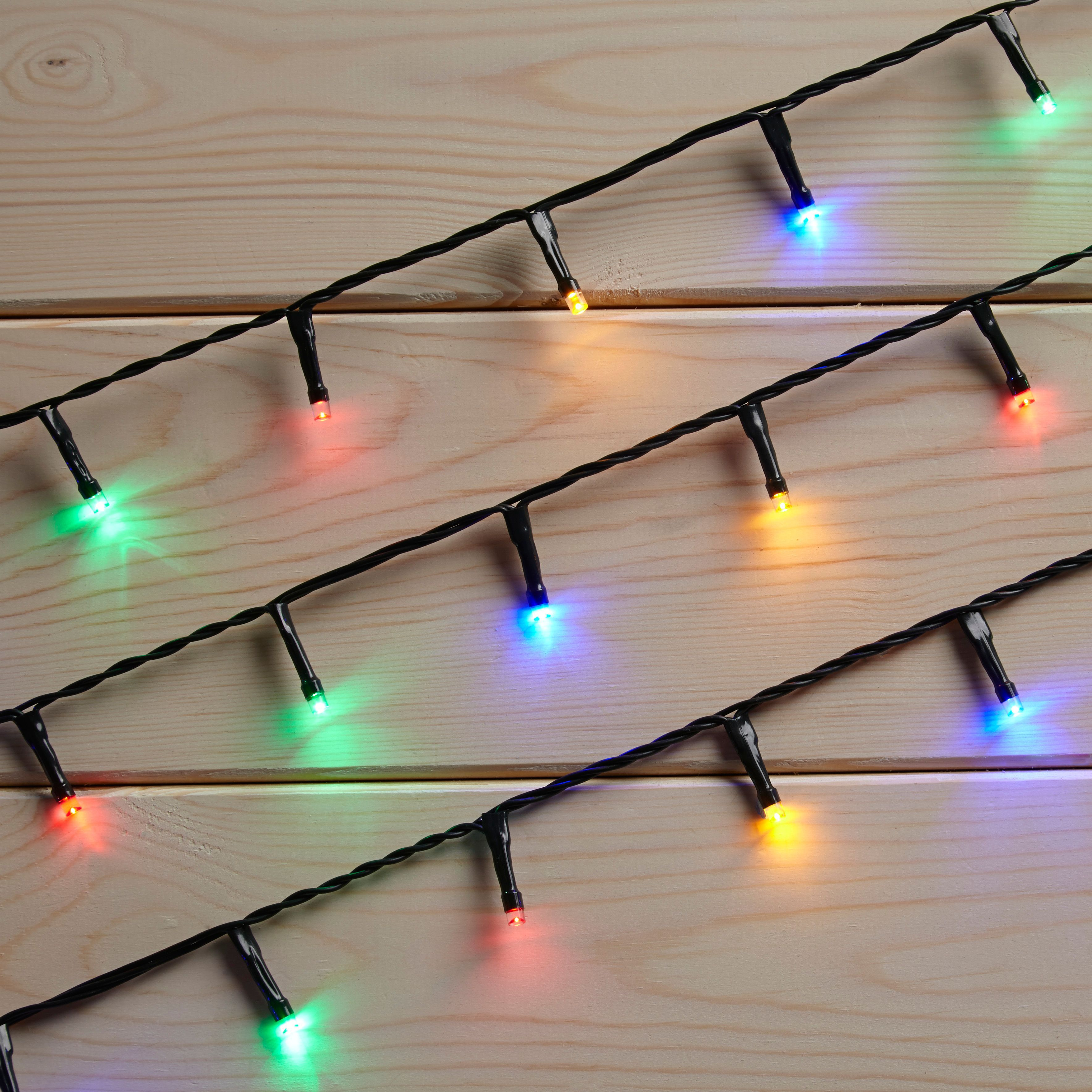 Led String Lights Diy : 120 Multicolour LED String Lights Departments DIY at B&Q