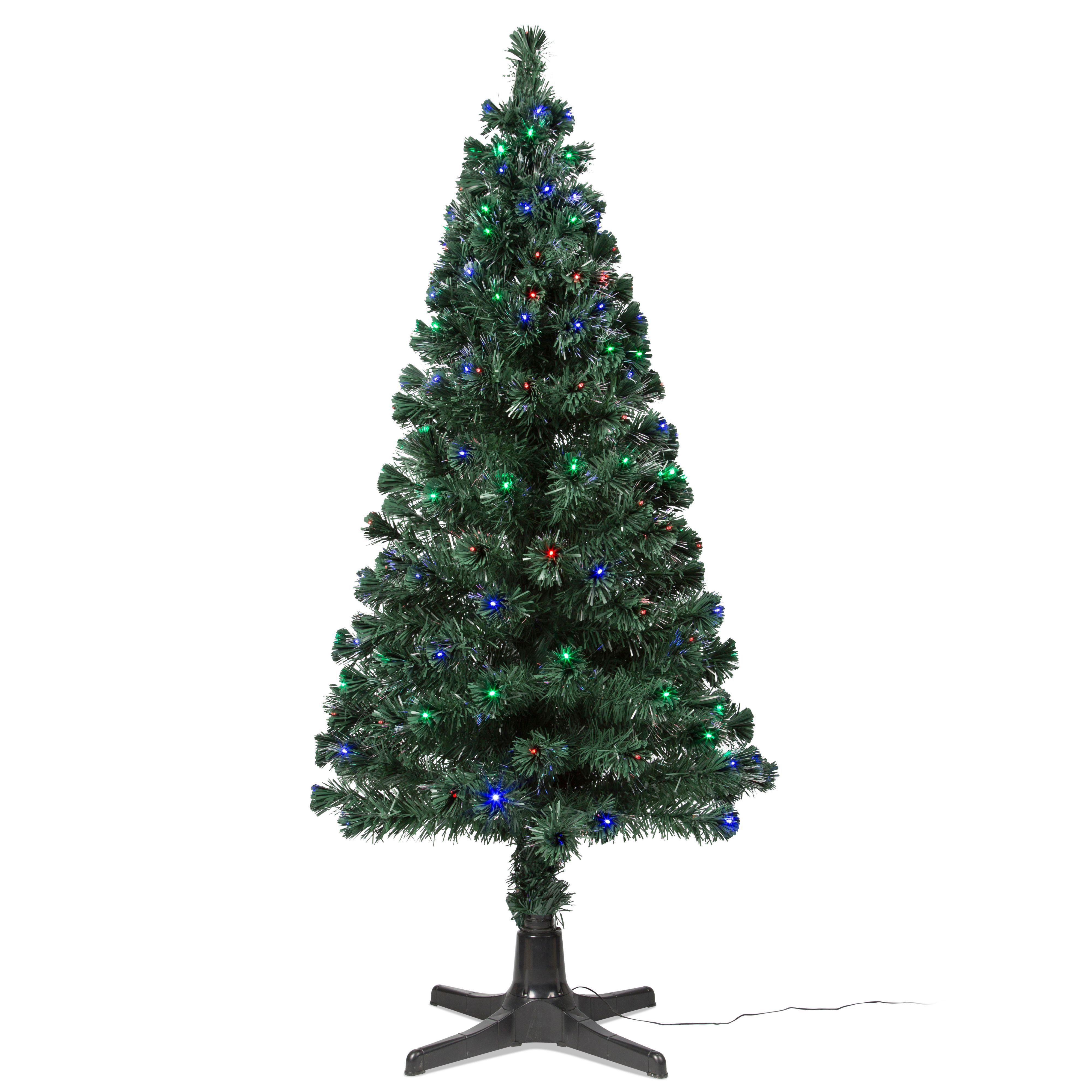 6ft 6in Rotating Fibre Optic Led Christmas Tree Departments Diy