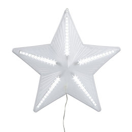 LED White Chasing Star Silhouette