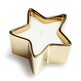 Star Shaped Unscented Gold Candle