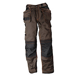 "Rigour Tradesman Brown Trousers W32"" L32"""