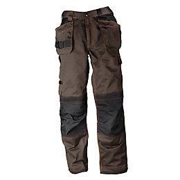 """Rigour Tradesman Brown Trousers W38"""" L32"""""""
