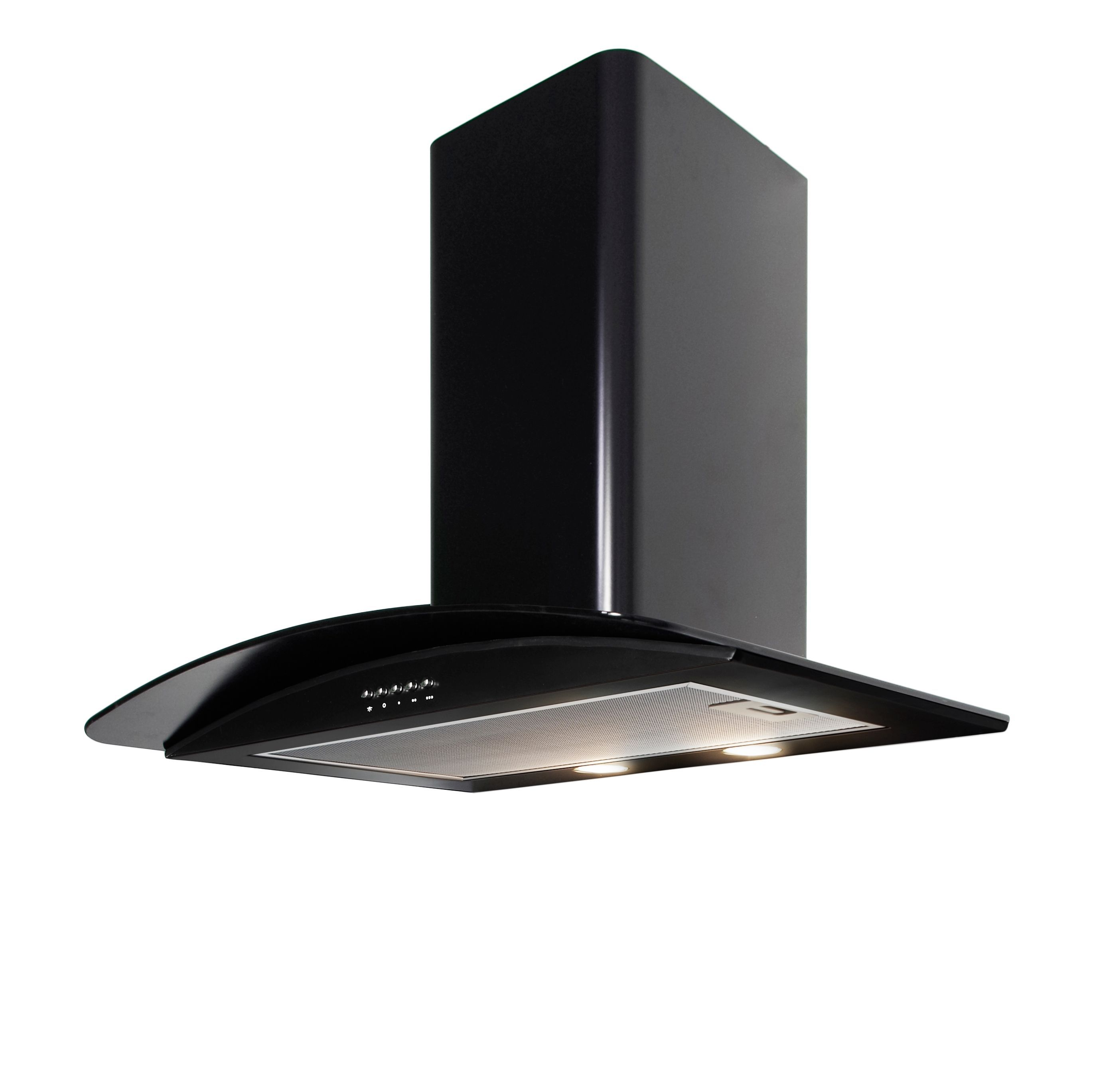 Cooke & Lewis Clgch70bk Steel & Glass Curved Cooker Hood, (w) 700mm