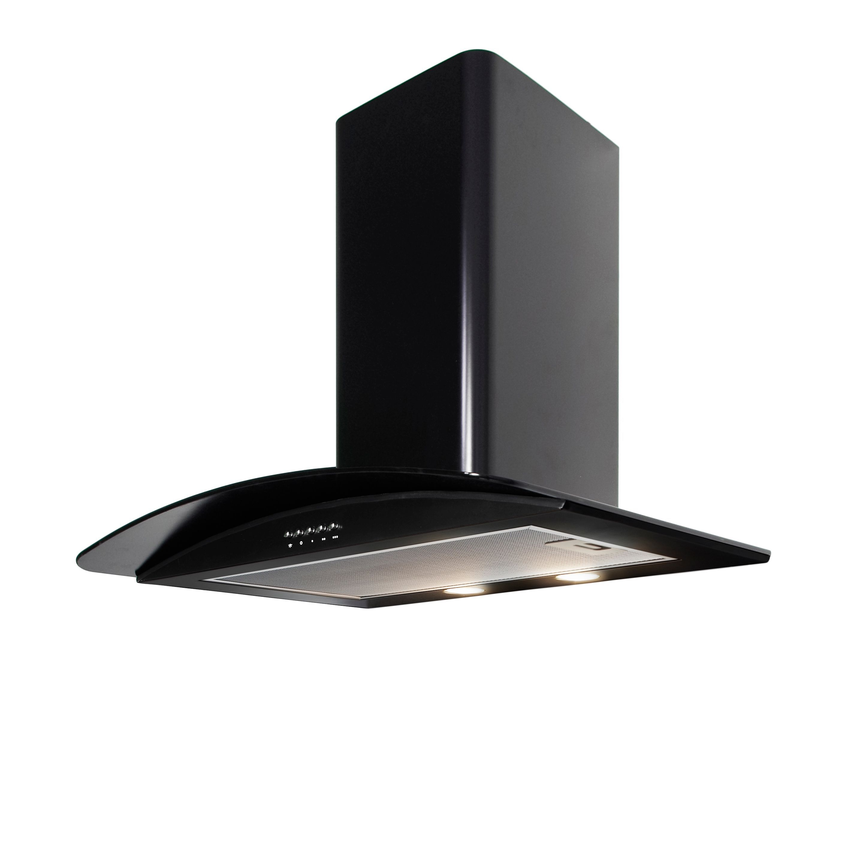 Cooke & Lewis Clgch90bk Blackout Coated Cooker Hood, (w) 900mm