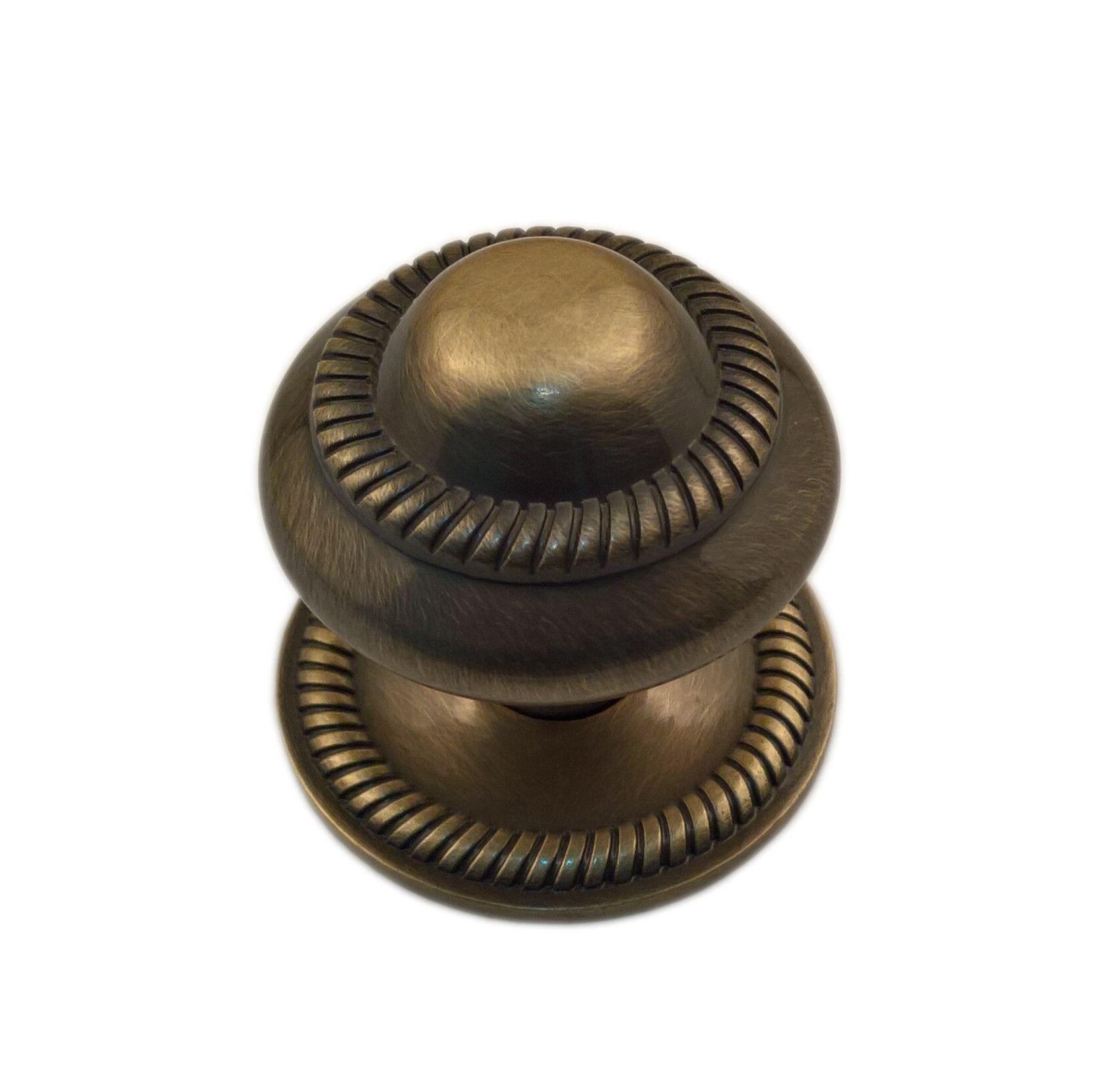 B&q Antique Antique Brass Round Internal Knob Furniture Knob