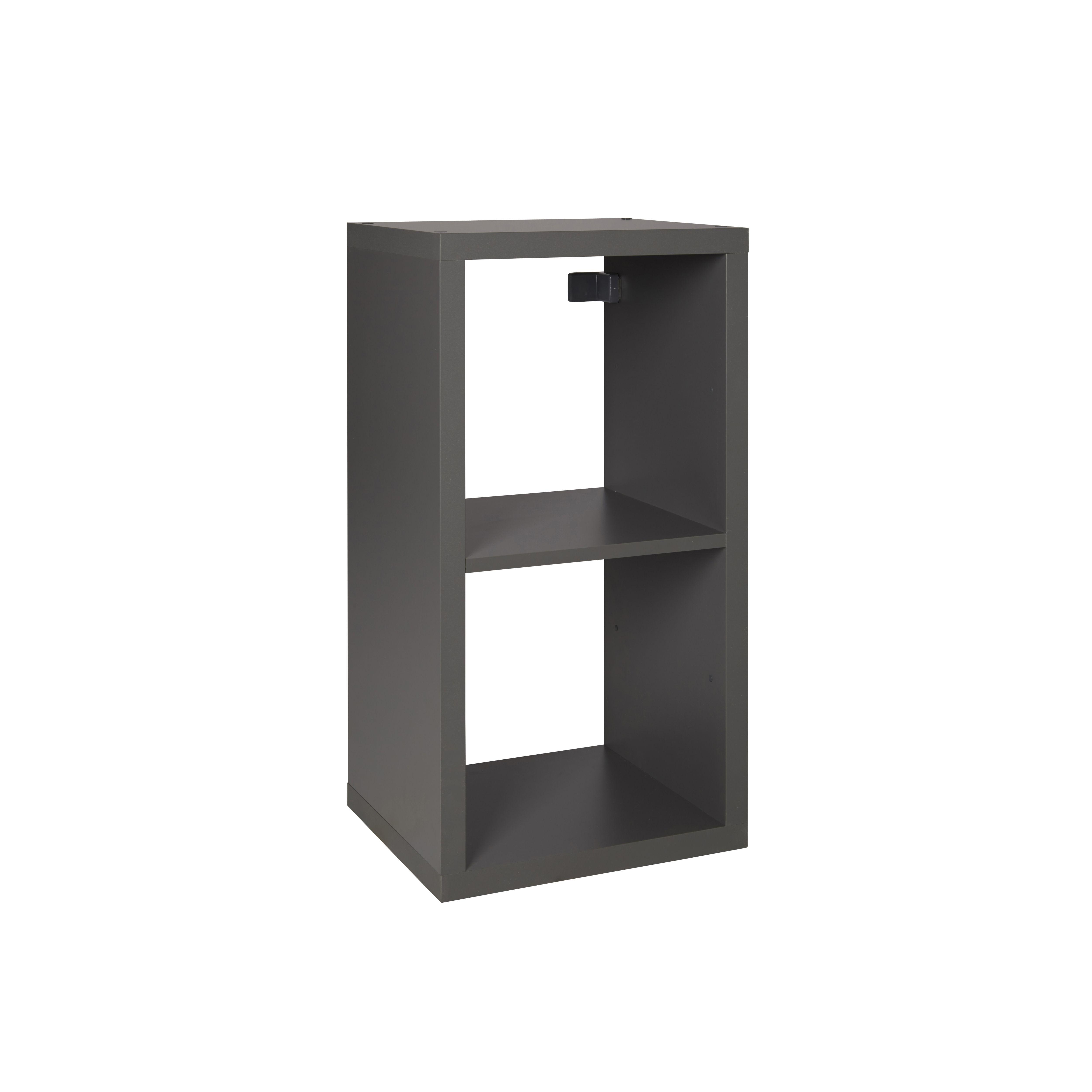 Form Mixxit Grey 2 Cube Shelving Unit (h)740mm (w)360mm