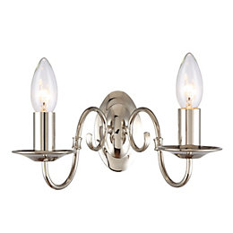 Manning Polished Nickel Wall Light