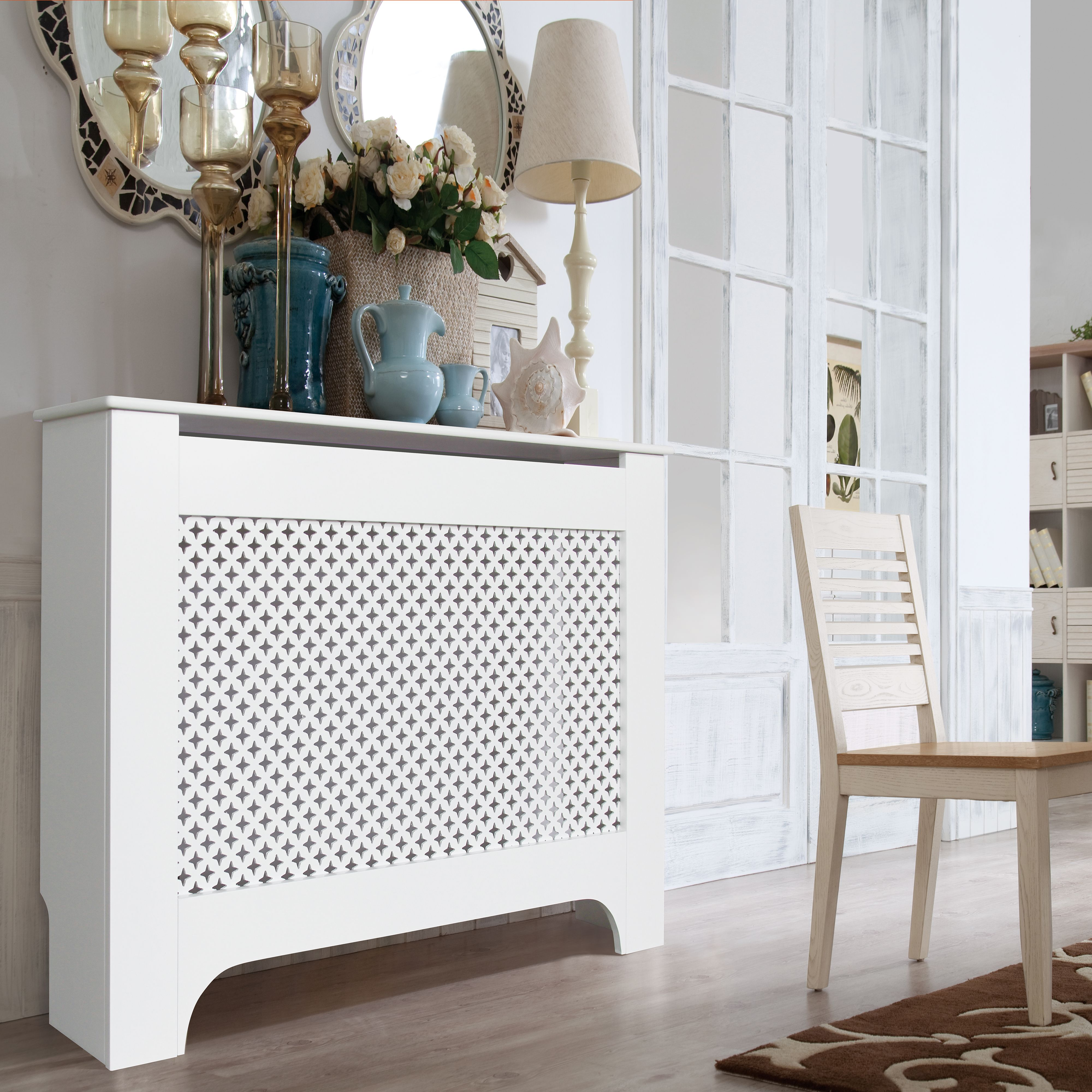 Richmond Medium White Painted Radiator Cover | Departments | DIY at B&Q