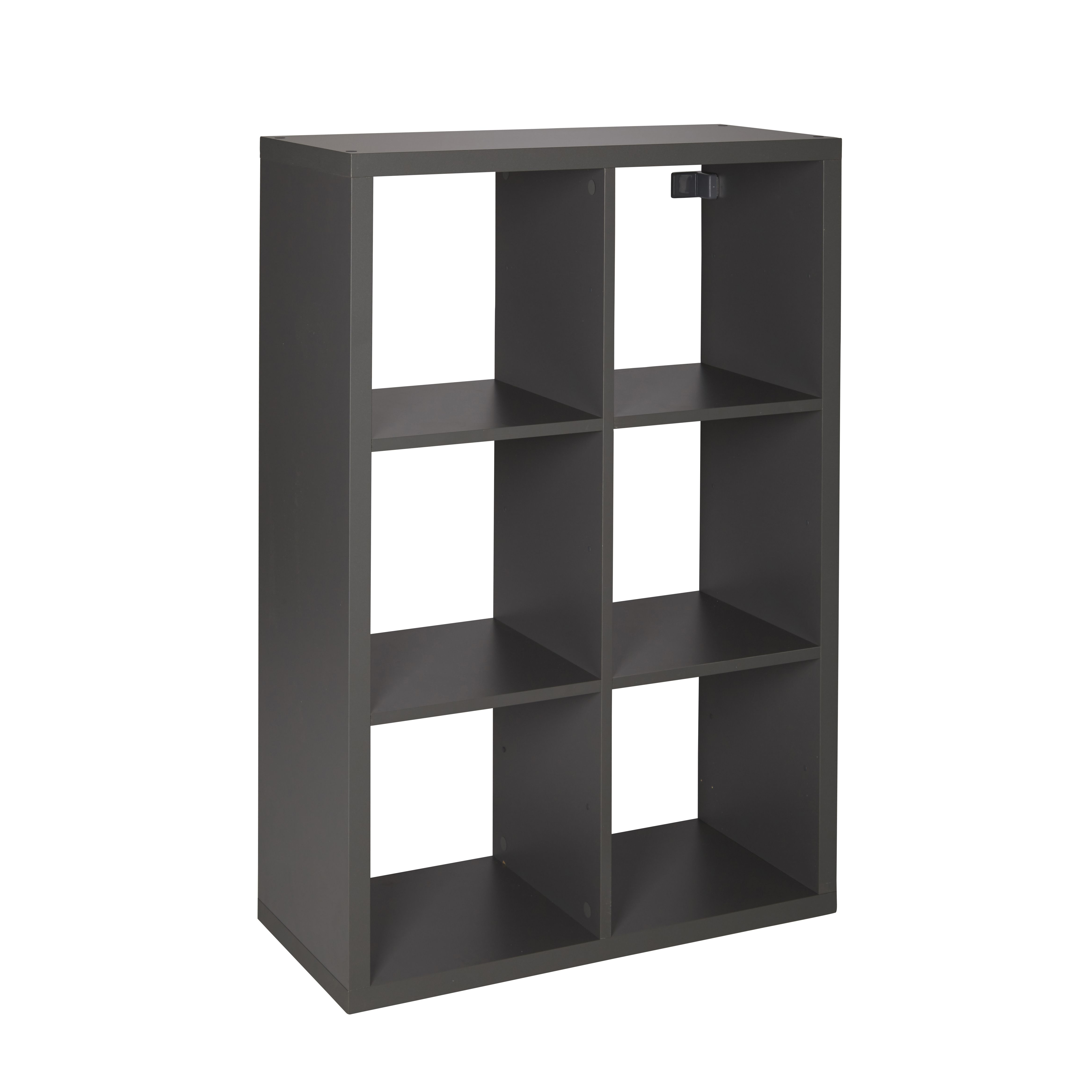 Form Mixxit Grey 6 Cube Shelving Unit (H)1080mm (W)740mm | Departments |  DIY at B&Q
