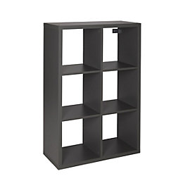 Form Mixxit Grey 6 Cube Shelving Unit (H)1080mm