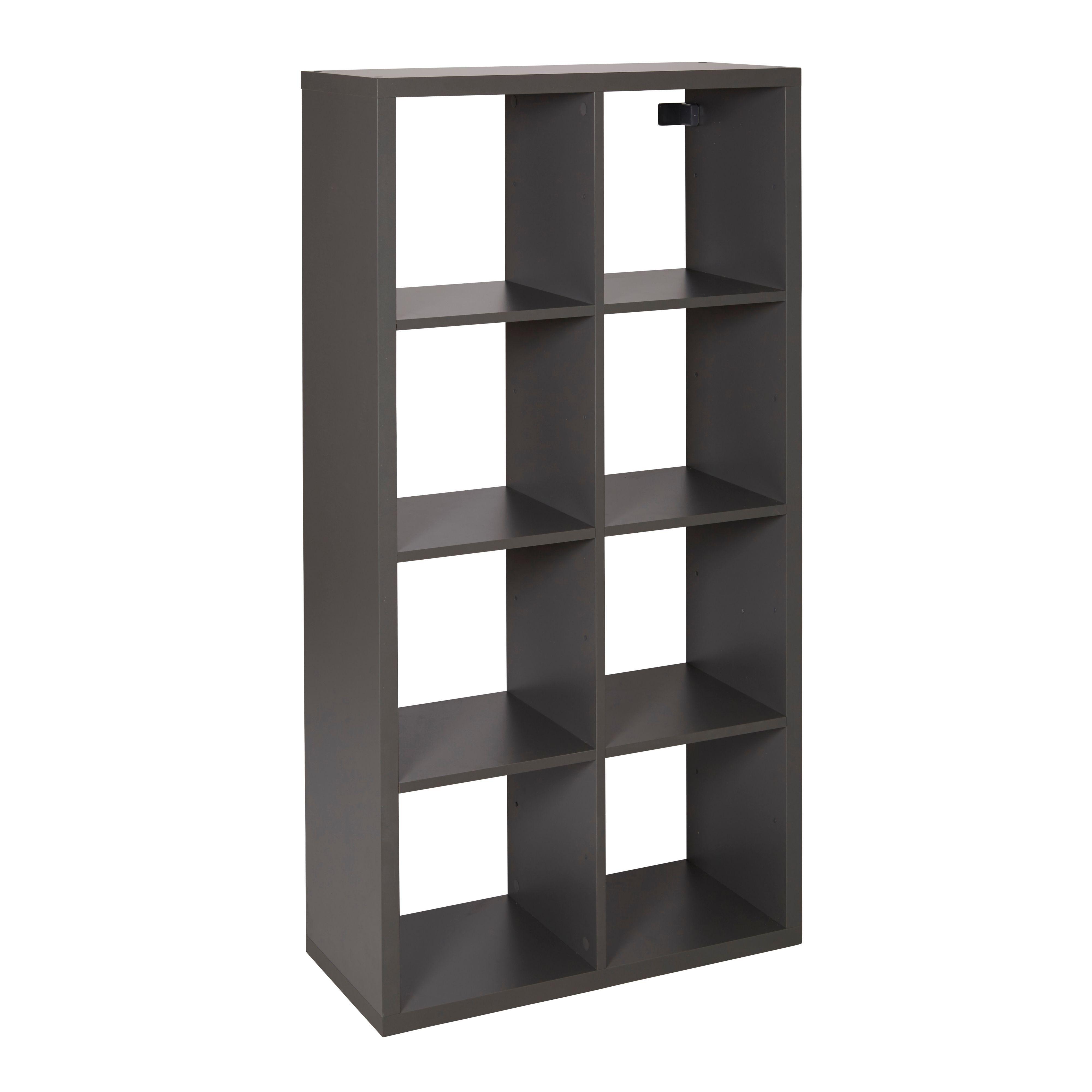Form Mixxit Grey 8 Cube Shelving Unit (h)1420mm (w)740mm