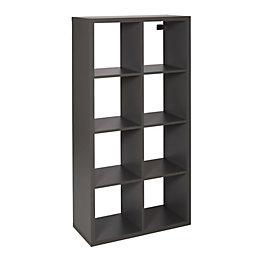 Form Mixxit Grey 8 Cube Shelving Unit (H)1420mm