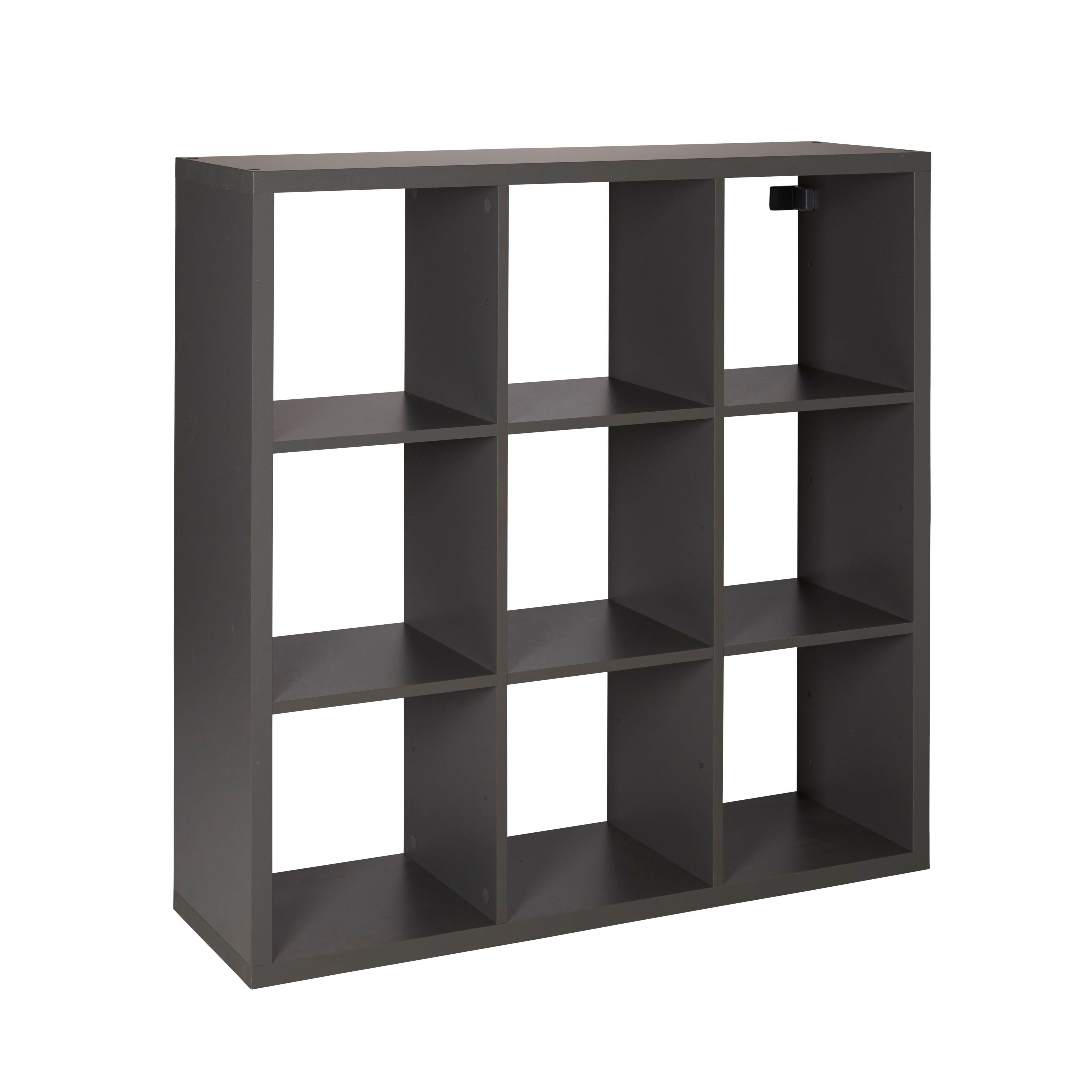 Form Mixxit Grey 9 Cube Shelving Unit (h)1080mm (w)1080mm
