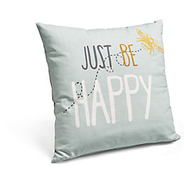 Just Be Happy Blue Cushion