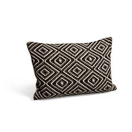 Diamond Weave Black & Cream Cushion