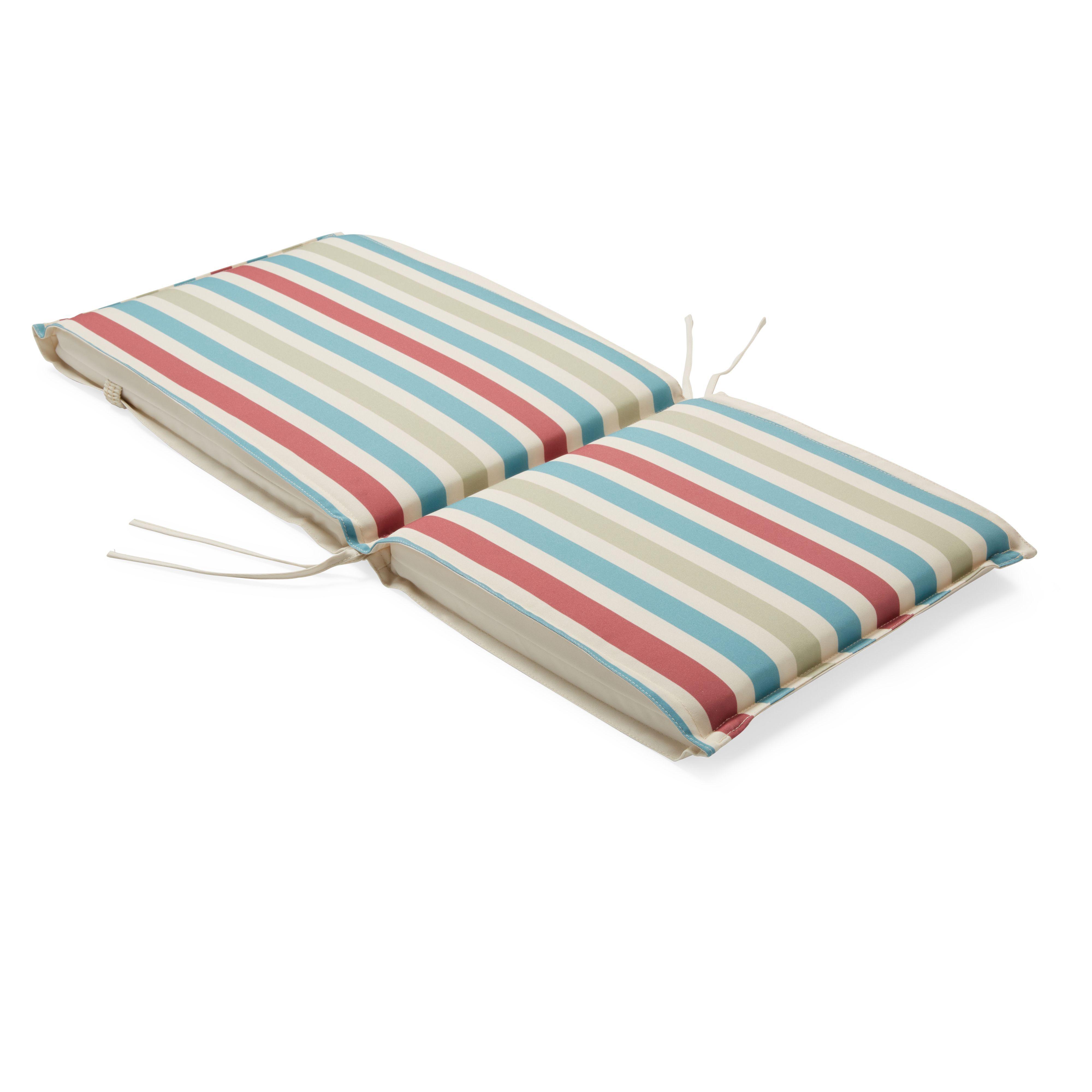 Isla Striped Multicolour Cushion. Outdoor Seat Cushion   DIY