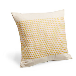 Woven Linear Dot Ivory & Yellow Cushion