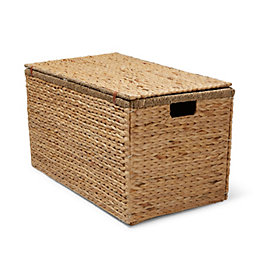 Natural Water Hyacinth & Seagrass Folding Chest