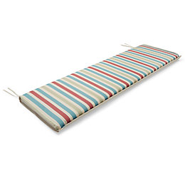 Isla Striped Multicolour Reversible Bench Cushion