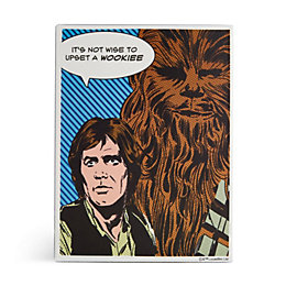 Star Wars Han Solo & Chewbacca Metal Plaque